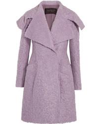 Giambattista Valli Mohair Blend Boucl Coat Lilac