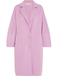 Oversized wool alpaca and cashmere blend coat lilac medium 4394177