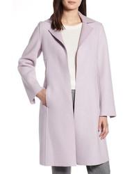Halogen Raw Edge Wool Blend Clutch Coat