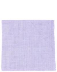 Linen pocket square lilac medium 29098