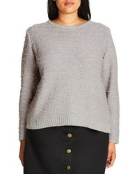 City Chic Back Zip Color Pop Sweater