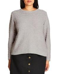 City Chic Back Zip Color Pop Sweater