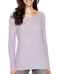 Liz Claiborne Long Sleeve Boatneck Sweater