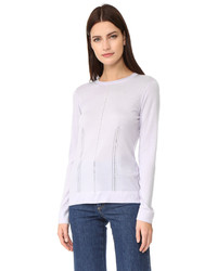 Salvatore Ferragamo Pointelle Crew Neck Sweater
