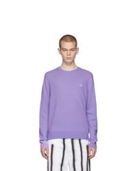 Acne Studios Purple Nalon Face Sweater