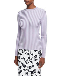 Regan wide rib sweater lilac medium 4156646