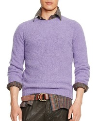 Men s Light Violet Crew-neck Sweaters by Polo Ralph Lauren  53cb125490821