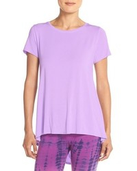 Light Violet Crew-neck T-shirt