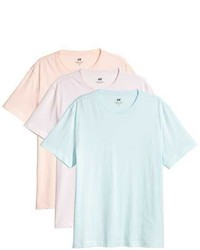 H&M 3 Pack T Shirts Regular Fit