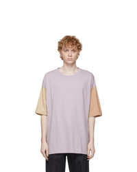 tss Purple Colorblock Dry Touch T Shirt