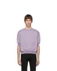 Random Identities Purple Fleece Short Sleeve Sweatshirt