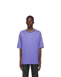 Acne Studios Purple Jacquard Logo T Shirt