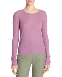 Cashmere ribbed cropped sweater medium 3942935