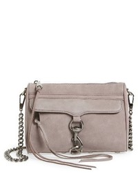 Rebecca Minkoff Mini Mac Nubuck Convertible Crossbody Bag Purple