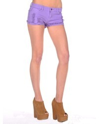 Butter Shoes Butter Destroyed Cuffed Denim Short