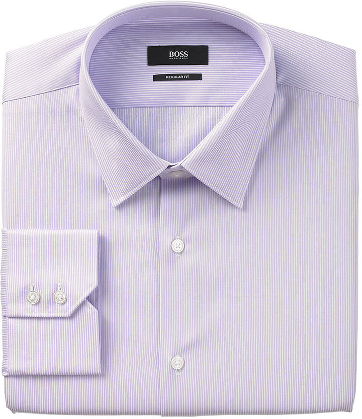 37a464d5b Hugo Boss Boss By Micro Striped Dress Shirt, $95 | Macy's ...
