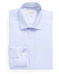 London brasser trim fit solid dress shirt medium 4911908
