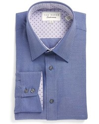 London trim fit texture dress shirt medium 801125