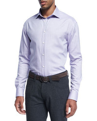 Armani Collezioni Micro Dot Cotton Dress Shirt