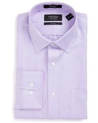Nordstrom Shop Trim Fit Textured Dress Shirt