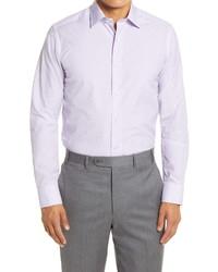 David Donahue Slim Fit Geo Print Dress Shirt