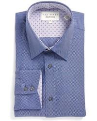 Ted Baker London Trim Fit Texture Dress Shirt