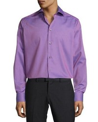 Textured solid button front shirt pink medium 1124978