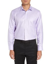 Nordstrom Men's Shop Trim Fit Microgrid Dress Shirt