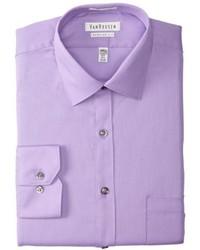 Van Heusen Pincord Regular Fit Solid Spread Collar Dress Shirt