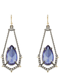 Alexis Bittar Crystal Drop Earrings With Chain Surround