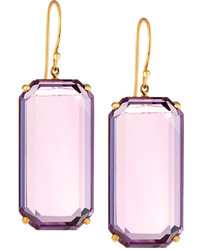 Ippolita Rock Candy Gelato 18k Amethyst Drop Earrings Purple