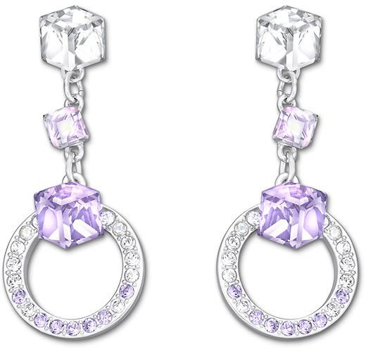 Violet Earrings Swarovski Geometric Pierced