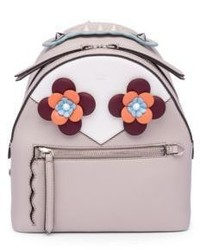 Fendi Embellished Leather Mini Backpack