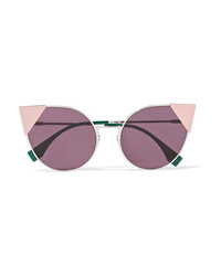 Fendi Embellished Cat Eye Acetate Sunglasses