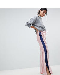 Asos Tall Trackpants With Kickflare Hem And Side Piping