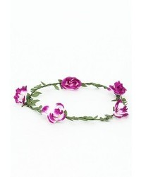 Missguided Zuraida Purple Floral Garland