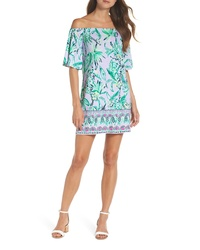 Lilly Pulitzer Fawcett Off The Shoulder Shift Dress