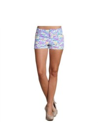 G2 Chic Floral Shorts With Belt Loops And Four Pockets