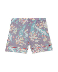 The Elder Statesman Printed Cashmere And Silk Blend Shorts