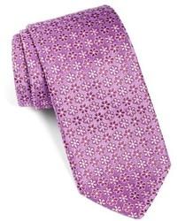Light Violet Floral Silk Tie