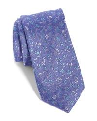 The Tie Bar Flower Fields Silk Cotton Tie