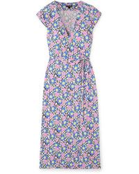 J.Crew Fabrizia Floral Print Jersey Wrap Dress