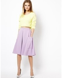 Midi skirt in ponte with pocket detail medium 25965