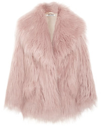 Oversized faux fur coat lilac medium 5258920