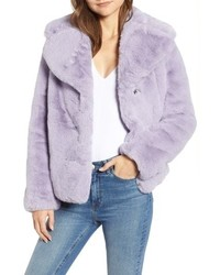 Light Violet Fur Jacket