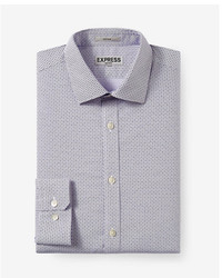 Express Slim Micro Geo Print Non Iron Dress Shirt
