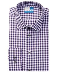 14th Union Gingham Trim Fit Dress Shirt
