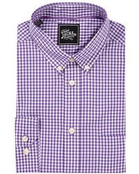 Jachs Button Down Long Sleeve Trim Fit Dress Shirt