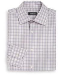 Saks Fifth Avenue Classic Fit Glen Plaid Check Dress Shirt