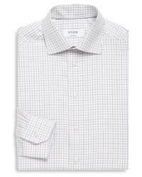 Eton Gingham Print Contemporary Fit Cotton Dress Shirt